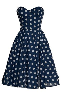 so lovely... and it's longer than most styles out right now!  brown dress with white dots