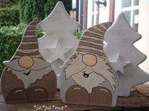2 Winterwichtel,Winterdeko aus Holz