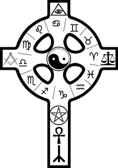 Ancient Occult Symbols | Kabbalah, Theosophy or Hermetic Cross