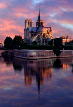 Notre Dame at Sunrise, Paris, France   Construction started: 1163  Height: 226 feet (69 m)  Opened: 1345  Architectural style: French Gothic architecture  Function: Cathedral  Architects: Eugène Viollet-le-Duc, Peter of Montereau, Jean de Chelles, Jean-Baptiste-Antoine Lassus. , from Iryna