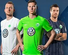 VfL Wolfsburg 2016/17 Nike Home, Away and Third Kits