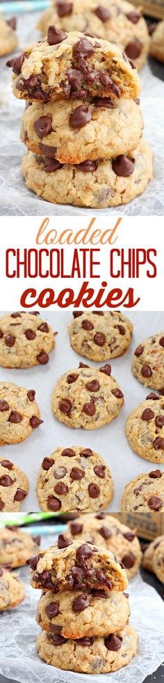 You won't get enough of these soft and chewy loaded chocolate chip cookies packed with chopped pecans and coconut flakes! Totally irresistible!!!