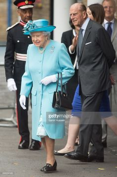 Queen Elizabeth II and Prince Philip, Duke of Edinburgh visit Mayflower Primary School during an official visit to Tower Hamlets on June 15, 2017 in London, England. The visit coincides with commemorations for the centenary of the bombing of Upper North Street School during the First World War.