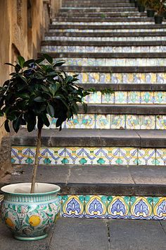 the famous stairs of Caltagirone, Sicily