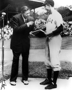 George H. W. Bush At Yale With Babe Ruth 1948 Vintage 8x10 Reprint Of Old Photo