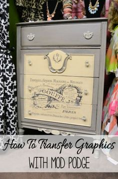 Mod Podge Graphic Transfer Technique; a step by step tutorial! From FlyingC-DIY.com