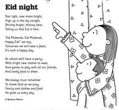 Eid Night poem for kids Eid Activities, Free Activities For Kids, Kindergarten Activities, Eid Crafts, Ramadan Crafts, Eid Quotes In English, Eid Song, Night Poem, Eid Festival