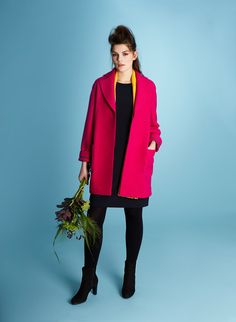 High-end capsule collection for women with emphasis on quality fabrics by Paul Costelloe Living Studio Workwear, Duster Coat, Fabrics, Coats, Blazer, Studio, Jackets, Collection, Women