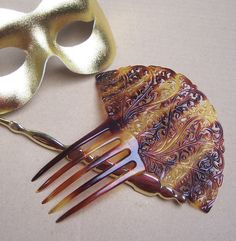 Art Deco hair comb Spanish comb faux by ElrondsEmporium on Etsy