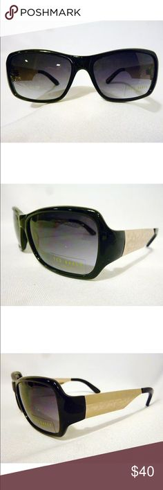 Ted Baker sunglasses. No tags just sticker. These are authentic Ted Baker sunglasses. The model number stamped is Ambrosia B458.  The color is Black with gold temples, each with a logo and etching. Ted Baker Accessories Sunglasses