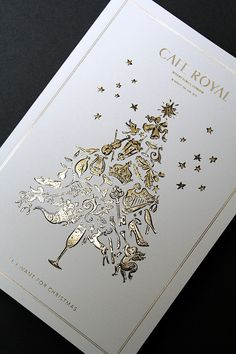 Hotel Cafe Royal Christmas Brochure on Behance