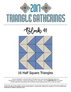 Triangle Gatherings…blocks 39, 40 & 41… | Lisa Bongean's Weblog