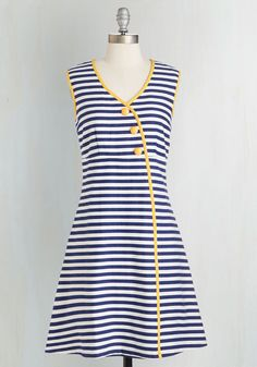 Tender Loving Character Dress. Youre a sweet gal with sharp sensibilities - which is what drew you to the classic charm of this nautically inspired dress!  #modcloth