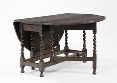 Gate-leg table, c.1680; oak, at the Geffrye Museum, London. Photographed by John Hammond.