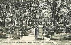 New Brunswick New Jersey NJ 1930s Class of 1902 Gate Rutgers Vintage P – Moodys Vintage Postcards