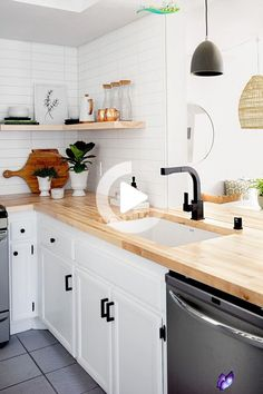 Remodeling your kitchen doesn't have to cost a fortune. These kitchen remodel ideas prove that a big budget isn't necessary to make a dramatic improvement. Whether you want to renovate a small space or add function to a galley kitchen, these easy, affordable updates will help you get a kitchen you love. #kitchenremodel<br> Budget Kitchen Remodel, Galley Kitchen Remodel, Kitchen On A Budget, Kitchen Redo, Affordable Kitchen Cabinets, Renovation Budget, Ikea Kitchen, Smart Kitchen, Stylish Kitchen