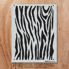 Downloadable zebra print for DIY projects