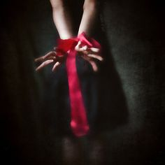 Fave photo of the day!..Red Are The Ties That Bind 8x8 Conceptual by borninnovember on Etsy