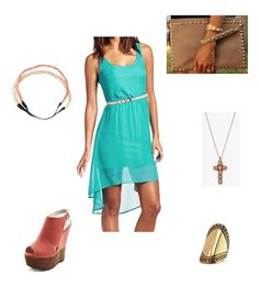 Dress Charlotte Russe, Ring Charlotte Russe, Shoes Charlotte Russe, Clutch Dulce Candy, Headband Forever21, Necklace Forever21