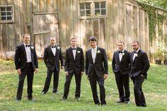 Historic Tulip Hill Wedding — Wedding Savvy, Inc. Groom and Groomsmen in front of the barn