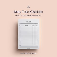The Rain Journal Printable To Do List Planners - have a look at our huge To Do List Planner Printable library. Find daily, weekly, monthly and yearly checklist, to do list for home, school and work. These are perfect for your binders such as filofax and kikki k.  #printableplanner #planners #printables #printableplanners To Do Lists Printable, Daily Planner Printable, Printables, Home Planner, Planner Ideas, Daily Checklist, Desk Stationery, Journal Diary, Office And School Supplies