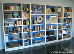 Tips on how to style bookcases and built-ins!  My shelves could use a sprucing up!   ;)