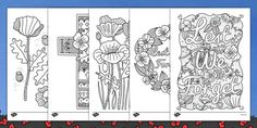 This lovely set of poppy themed Anzac colouring sheets are great for a variety of activities around Anzac Day. Colouring Pages, Coloring Sheets, Adult Coloring, What Is Remembrance Day, Mindfulness Colouring Sheets, Anzac Poppy, Remembrance Day Activities, Ww1 Art, Armistice Day