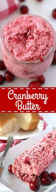 You will want to add this Cranberry Butter recipe to your Thanksgiving and Christmas menu. Enjoy it as a compound butter or as a whipped butter. It's perfect on dinner rolls or even a bagel for morning breakfast.