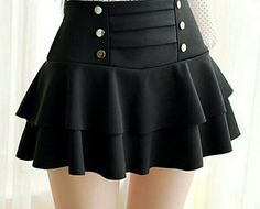 Cute skirt- any women at any generation can wear cute skirts solid color high-waist layered skirt VCWHKLV Skirt Outfits, Dress Skirt, Cool Outfits, Dress Up, Cute Skirts, Mini Skirts, Cute Fashion, Fashion Outfits, Fashion Black