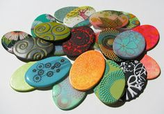 With Your Hands: Samples of polymer clay for classes
