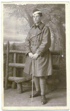 Vintage Real Photo Postard - Young Man in WW1 Uniform. £2.50, via Etsy.
