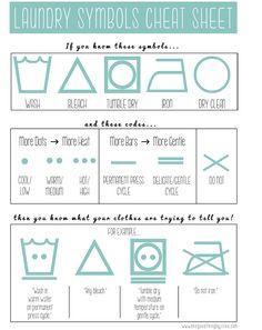 Laundry symbols cheat sheet