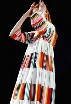 Anthropologie - Liidokki Dress- by Marimekko, collection 2017 Fashion Week, Fashion 2017, Spring Fashion, Autumn Fashion, Fashion Dresses, Fashion Trends, Textiles, 1960s Fashion, Vintage Fashion