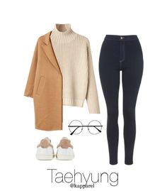 Winter Outfit: Taehyung A fashion look from December 2017 by kapparel featuring MANGO, Topshop and Isabel Marant Korean Fashion Kpop Inspired Outfits, Bts Inspired Outfits, Kpop Fashion Outfits, Girls Fashion Clothes, Korean Fashion Trends, Winter Fashion Outfits, Korean Outfits, Girl Outfits, Cute Casual Outfits