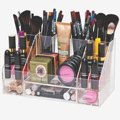 """""""Arya XL Acrylic Makeup Organizer Storage Tray"""" is a larger version than the Arya"""". Designed and created by us to maximize your makeup storage solutions. Helps you keep your makeup as they were meant"""