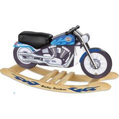 OMG! Harley Davidson Blue Softail Rocker