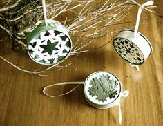 Ornaments from tin cans diy... http://www.michelemademe.com/2010/12/series-3-situation-christmas-ornament.html