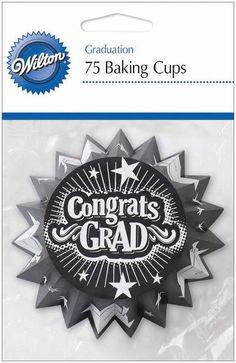The easiest way to dress up a cupcake or a muffin! #graduation $1.78