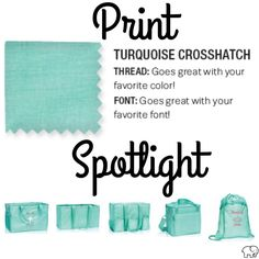 Print Spotlight for Spring/Summer 2017 Thirty-One - Turquoise Crosshatch  #newcatalog #Carrie31Bags