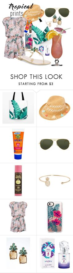 """Tropical"" by pramesvvari ❤ liked on Polyvore featuring Banana Boat, Ray-Ban, Sun Bum, Humble Chic, Seafolly, Casetify, Banana Republic, Sisley and Giuseppe Zanotti"