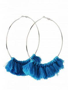 Prezzi e Sconti: #Tassel metal circle statement hoop earrings  ad Euro 4.24 in #Jewelry #Moda