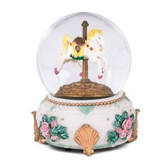 Carousel Horse Glass Musical Snow Globe Plays Song Love Makes the World Go Round Cadona http://www.amazon.com/dp/B00JG5YWPY/ref=cm_sw_r_pi_dp_zluOvb0287XN4