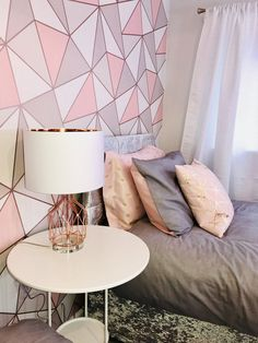 As parents you must know how to present the girl room which is suitable for her maturity Gold Bedroom Decor, Bedroom Wall Designs, Accent Wall Bedroom, Room Ideas Bedroom, Girls Bedroom, Cute Room Decor, Teen Room Decor, Decorating Toddler Girls Room, Girl Room