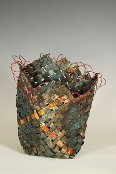 Basket #1: Frances Solar: Metal Basket - Artful Home