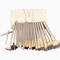 High Quality Professional Powder Foundation Brush 24pcs Makeup Brushes Set Cosmetic Real Make Up Tools blush brush with Bag
