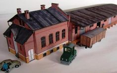 German Warehouse Paper Model In HO Scale - by Neuwied - == - This really beautiful and detailed paper model of a German warehouse situated in Engers is offered by Neuwied website. Perfect for Dioramas and Train Sets in HO scale (1/87 scale).
