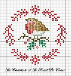 Christmas Robin (The Countess & Cross-Stitch), amp Christmas die DIYChristmas Countess .Christmas Robin (The Countess & Cross-Stitch), amp Christmas die DIYChristmas Countess Amigurumi Cute Dog Crochet Pattern Free - Páxina 3 de 3 Cross Stitch Christmas Ornaments, Xmas Cross Stitch, Cross Stitch Cards, Cross Stitch Animals, Cross Stitching, Cross Stitch Embroidery, Embroidery Patterns, Hand Embroidery, Christmas Patterns