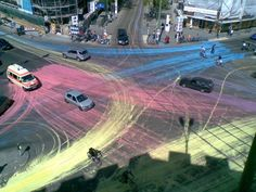 Art Attack: Berlin Drivers Paint The Town Red (& Beyond)