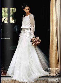 Precioso detalle de vestido de novia por Roberto Diz  #robertodiz