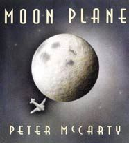 Moon Plane by Peter McCarty. Many books about Things That Go contain bright colors, harsh lines, and geometric shapes. McCarty takes a different angle; he focuses one boy's imagination and dreams. How appropriate that the book's color palette matches that of the moon itself. The technique of pencil on watercolor paper gives the story a muted mood, as the eye can see texture underneath shading. Several aerial views give the reader a feeling of gliding across the page.